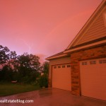 Lightning + Rainbow - Twin Cities Storm - 7-17-2010